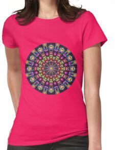 COLORFUL PSYCHEDELIC MANDALA Womens Fitted T-Shirt