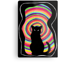 time for child stories: the BLACK CAT Metal Print
