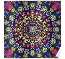 COLORFUL PSYCHEDELIC MANDALA Poster
