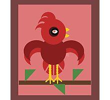 A Cardinal Made of Circles Photographic Print