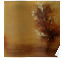 Misty Morning on the Chattahoochee, encaustic on wood Poster