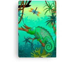Chameleon scene Canvas Print