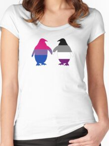 Bi Ace Pride Penguins Women's Fitted Scoop T-Shirt