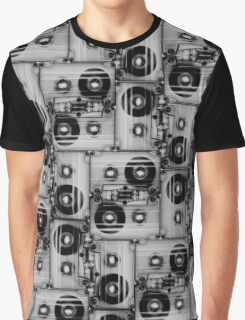 cassette pattern Graphic T-Shirt