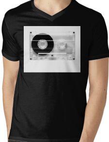 cassette  illustration - black and white tape  Mens V-Neck T-Shirt