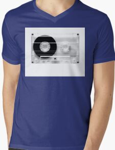 cassette  illustration - black and white tape  Mens V-Neck T-Shirt