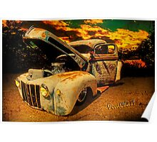Sunset At The Blanco River Poster