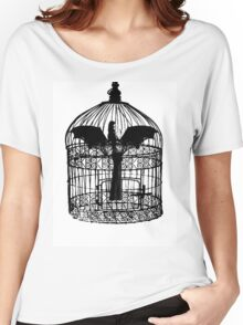 Caged Batgirl  Women's Relaxed Fit T-Shirt