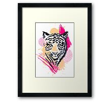 Abstract Tiger Framed Print