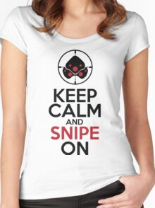 Keep Calm and Snipe On Women's Fitted Scoop T-Shirt