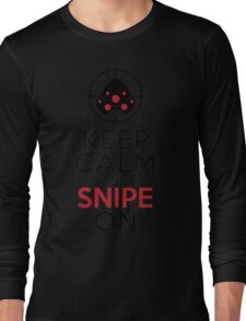 Keep Calm and Snipe On Long Sleeve T-Shirt
