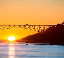 Deception Pass Final Sunset Summer 2016 (2) by Jim Stiles