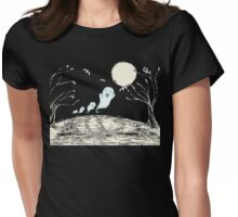 Haunted Hill Womens Fitted T-Shirt