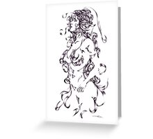 Ballpoint lady 1 Greeting Card