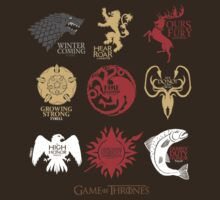 Game of Thrones, The Great Houses of Westeros by lungho