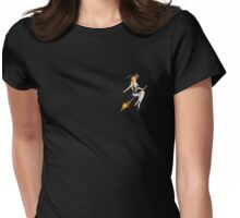 Flying Witch Womens Fitted T-Shirt