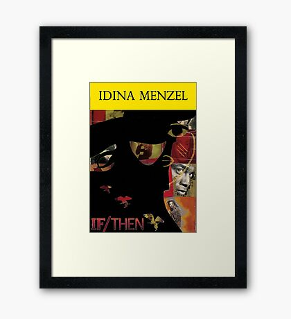 Idina Menzel Broadway Shows Framed Print