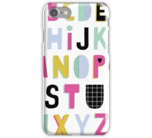 Super alphabet iPhone Case/Skin