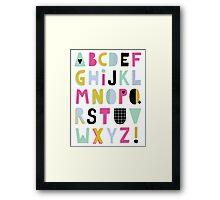 Super alphabet Framed Print