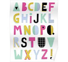 Super alphabet Poster