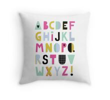 Super alphabet Throw Pillow