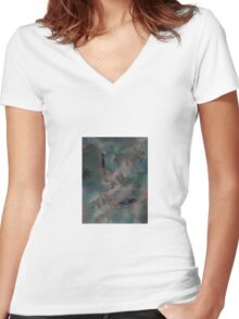Calm Day by 'Donna Williams' Women's Fitted V-Neck T-Shirt