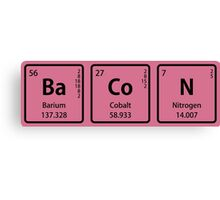 BaCoN Spelled with Periodic Table Element Symbols Canvas Print
