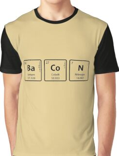 BaCoN Spelled with Periodic Table Element Symbols Graphic T-Shirt