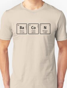 BaCoN Spelled with Periodic Table Element Symbols Unisex T-Shirt