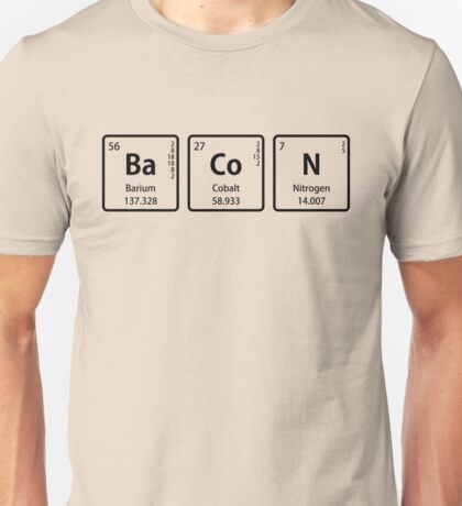 BaCoN Spelled with Periodic Table Element Symbols T-Shirt