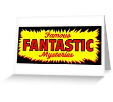 Famous Fantastic Mysteries vintage Greeting Card