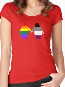 Gay Ace Pride Penguins Women's Fitted Scoop T-Shirt