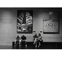 Texting...., Contemplating.... Photographic Print