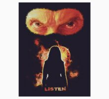 Listen - Twelfth Doctor - Orange (Sticker) by ifourdezign