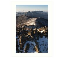 Mountain Ridge - Deogyusan National Park, South Korea Art Print