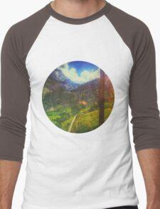 Valley Window View Men's Baseball ¾ T-Shirt