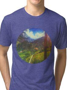 Valley Window View Rohtang Himalaya Tri-blend T-Shirt