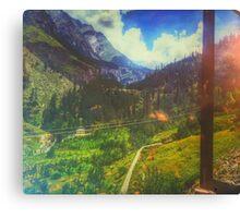 Valley Window View Canvas Print