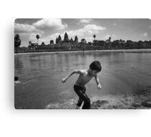 Angkor Wat Swim - Angkor Wat, Cambodia Canvas Print