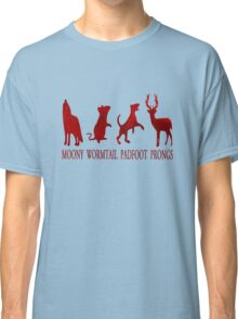 Moony, Wormtail, Padfoot and Prongs Classic T-Shirt