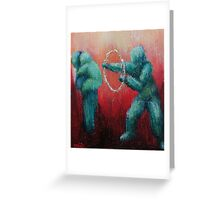 Circus Hoops by 'Donna Williams' Greeting Card