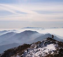Top Man - Deogyusan National Park, South Korea by Alex Zuccarelli