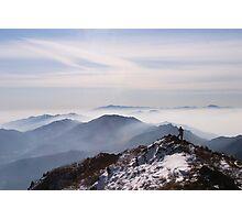Top Man - Deogyusan National Park, South Korea Photographic Print