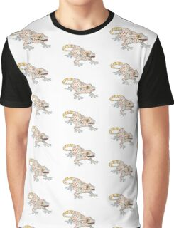 Light Blue Tokay Gecko Graphic T-Shirt