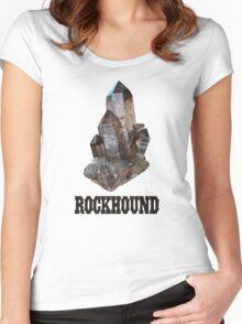 Smoky Quartz Rockhound Women's Fitted Scoop T-Shirt