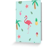 Turquoise tropics Greeting Card
