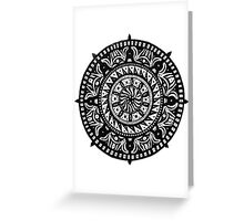 Zen Compass Greeting Card