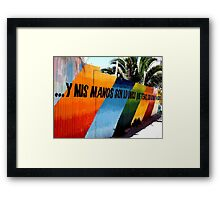 valparaiso coloured fence Framed Print