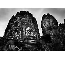 Smiling Guardians - The Bayon, Cambodia Photographic Print