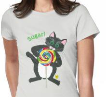 Lollipop cat Sugar Womens Fitted T-Shirt